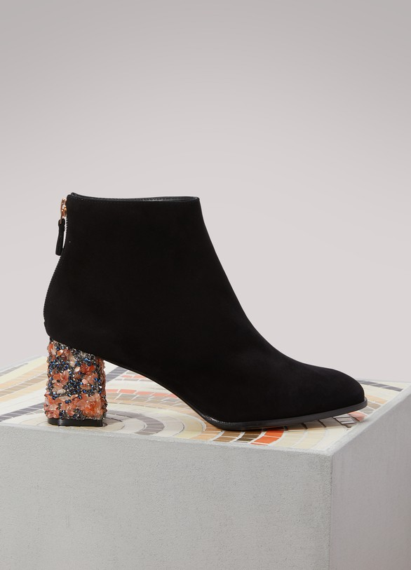 Boots for Women, Booties On Sale, Black, Leather, 2017, 3.5 5.5 6 7.5 Sophia Webster