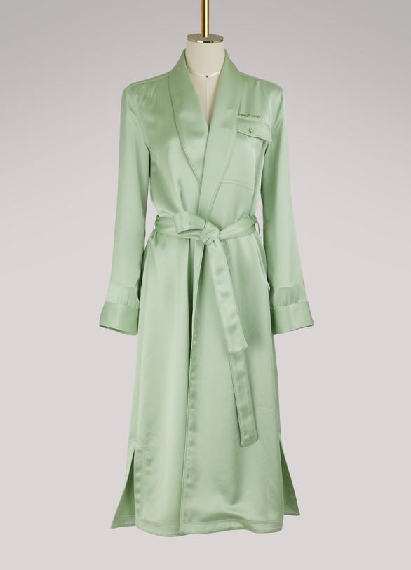Off WhiteLong pajama-style jacket