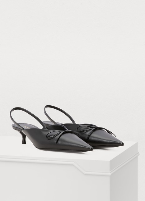 Balenciaga Slingback leather pumps