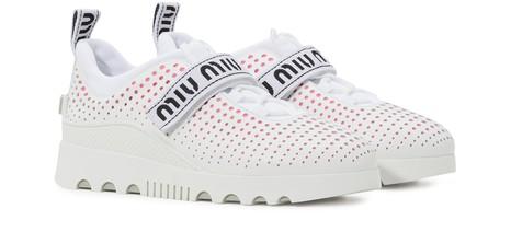 MIU MIUMiu Miu perforated sneakers