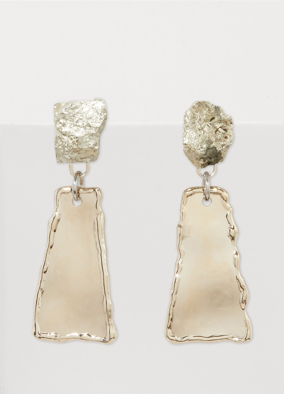 Proenza Schouler Metal and stones earrings