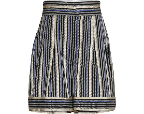 Lurex Striped Shorts by Peter Pilotto