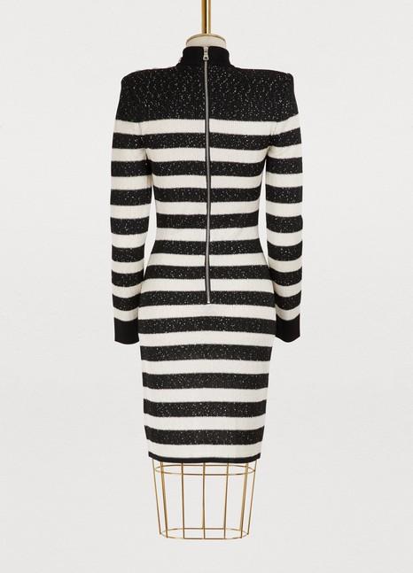 BalmainStriped mini dress