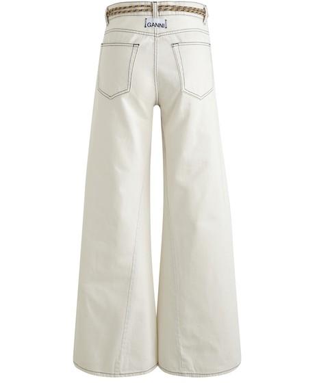 GANNIWide faded jeans