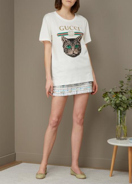 GucciGucci logo Mystic Cat T-shirt