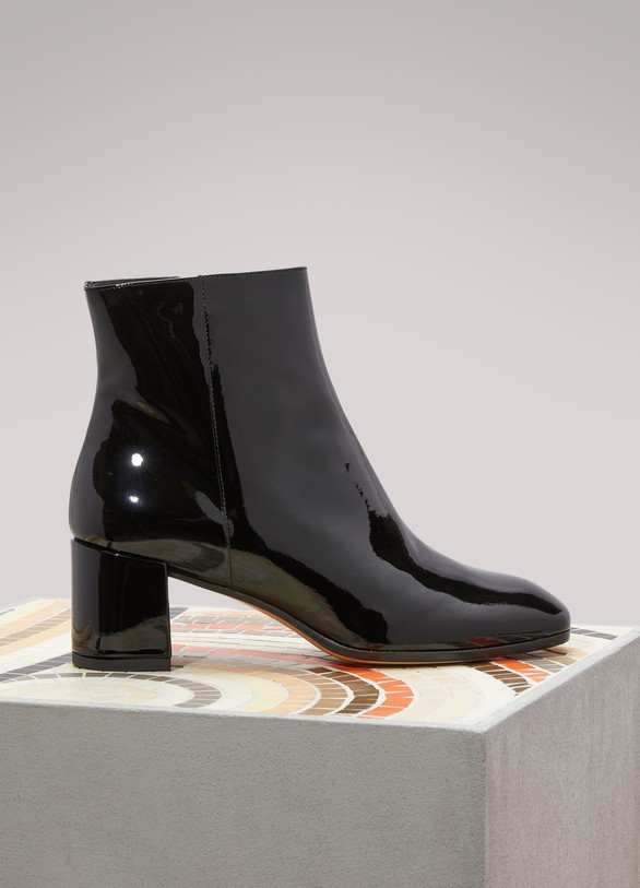LE BON MARCHE Bottines bout carré