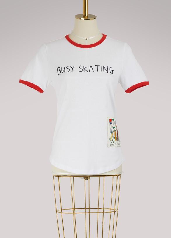 Mira MikatiBusy Skating cotton T-shirt