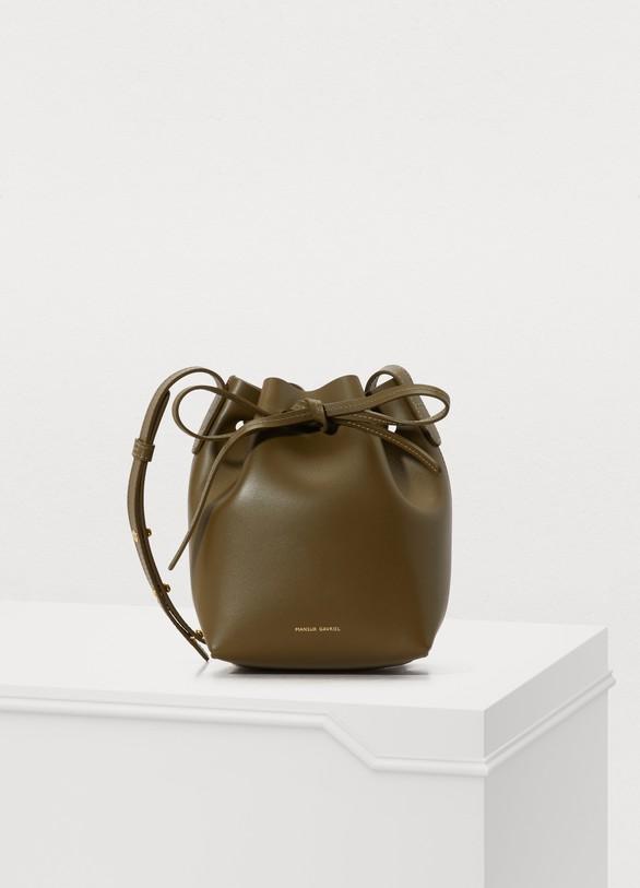 Mansur GavrielCalfskin leather mini mini bucket bag