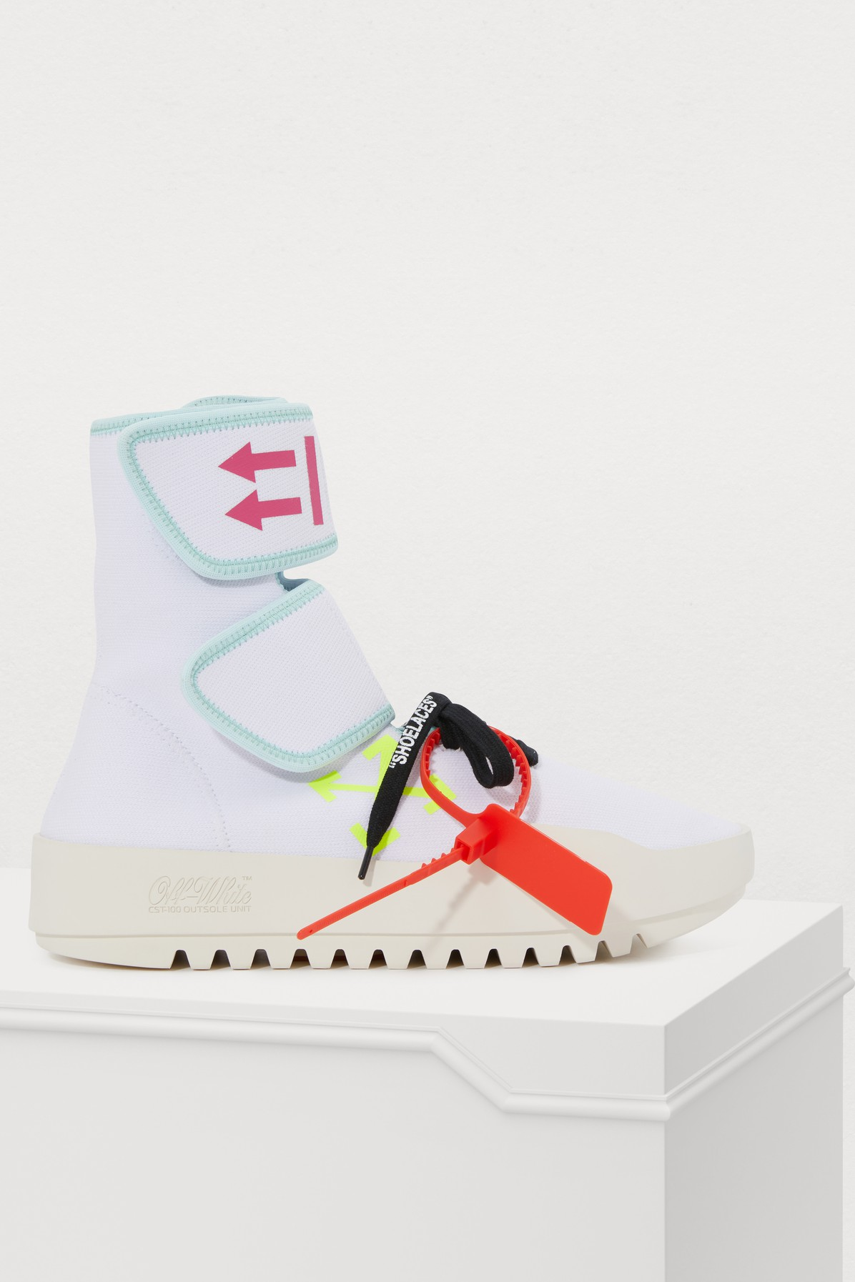 OFF-WHITE | Moto High-Top Sneakers | Goxip