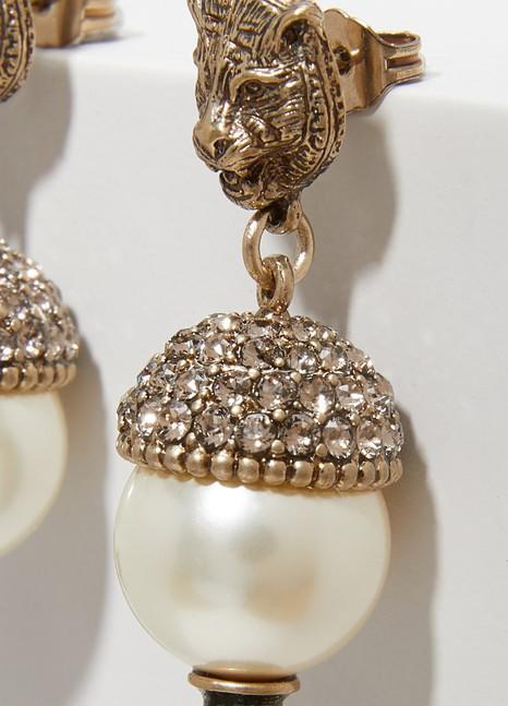 GucciBoucles d'oreilles félins avec cristaux