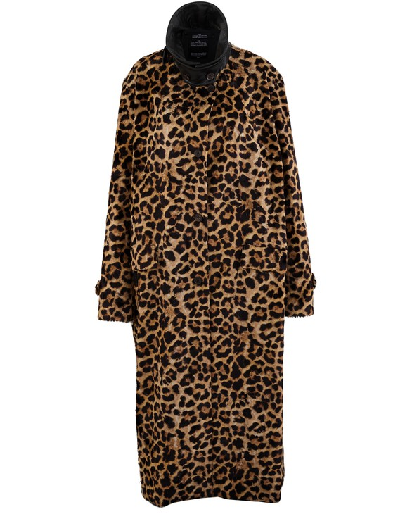 ROKH Leopard trench coat