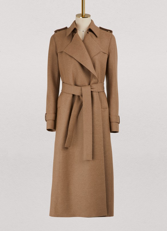 Harris Wharf LondonVirgin wool long coat