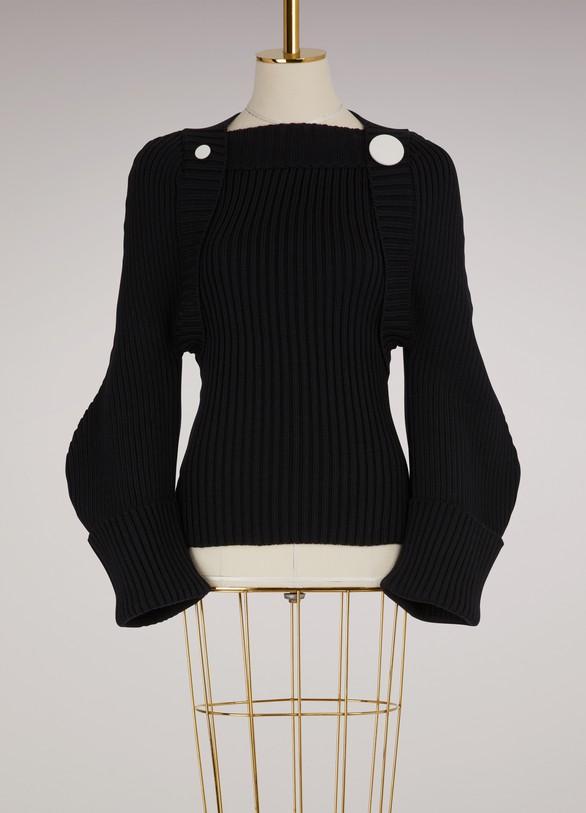 JacquemusPull avec boutons en laine