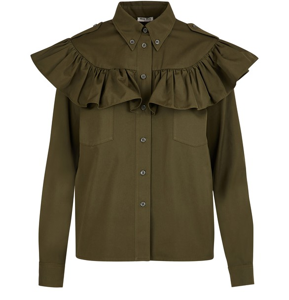 MIU MIU Ruffled shirt