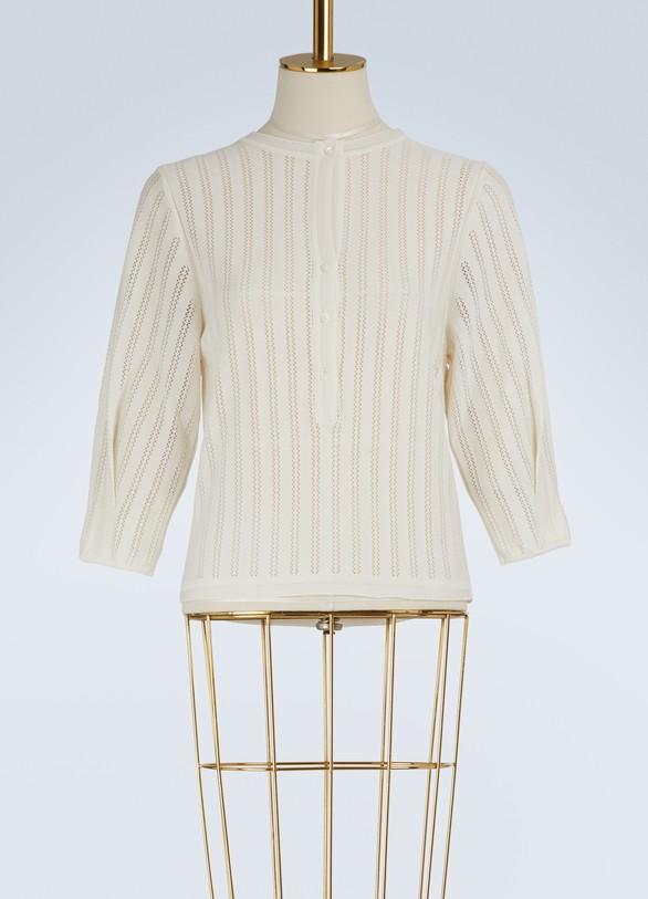 MolliEline Tunisian collar sweater
