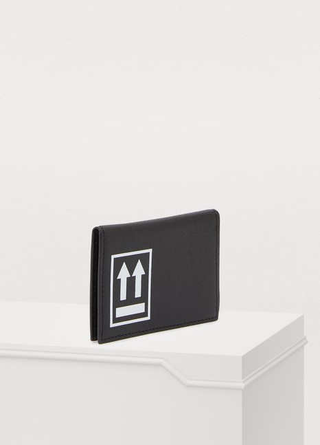 OFF-WHITE Leather card holder
