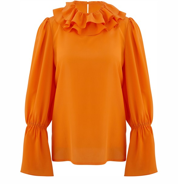 TORY BURCHFrilled blouse