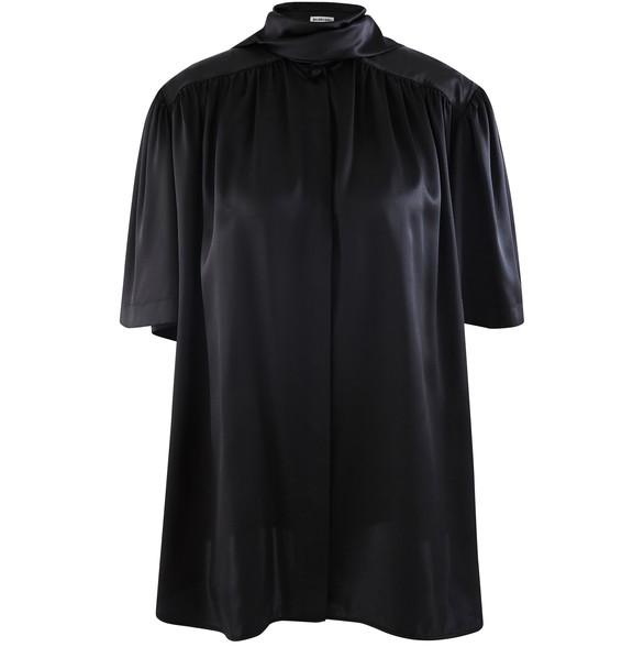 BALENCIAGAShort-sleeved silk shirt