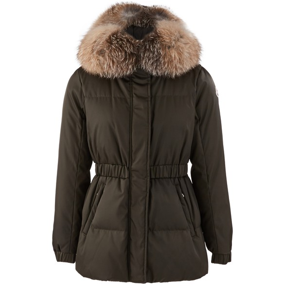 Fur Collar Down Jacket by Moncler