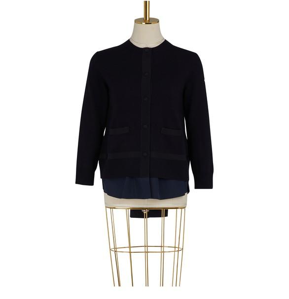 MONCLERKnitted bomber jacket