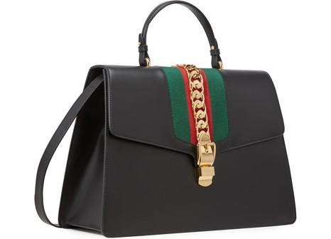 GUCCISylvie Leather Maxi Top-Handle Bag