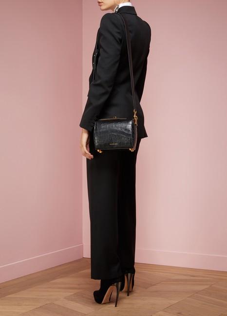 Alexander McQueenSac porté épaule en cuir effet croco Box Bag 16