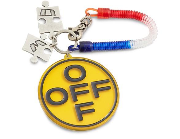OFF-WHITEOff Cross Bungee key holder