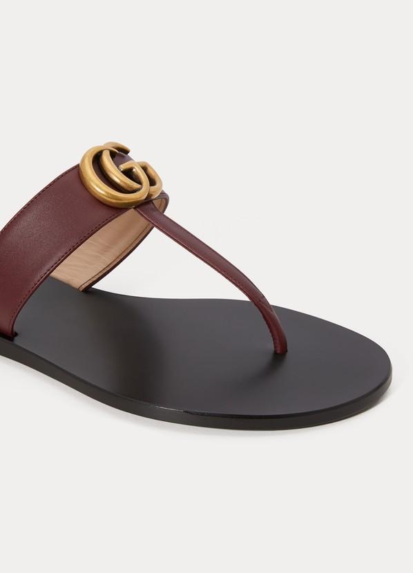 af67ca212be6 Gucci GG flat sandals ...