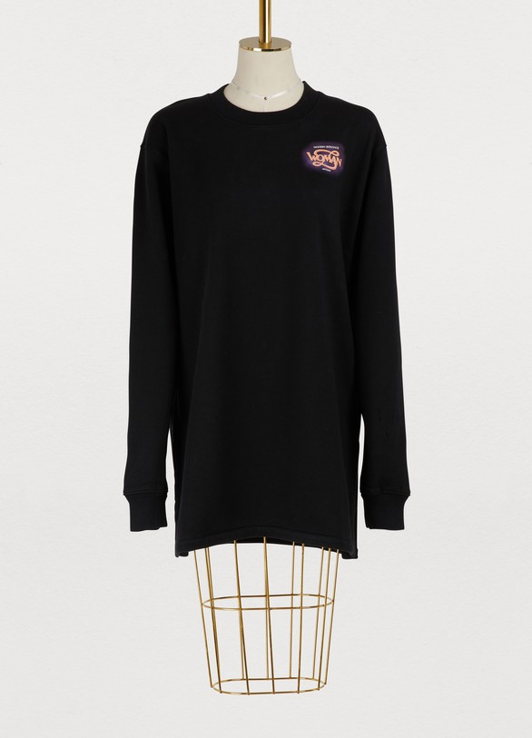 Off White Sweatshirt dress