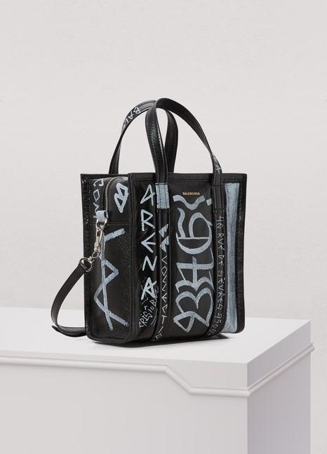 BalenciagaXS Graffiti Bazar tote bag