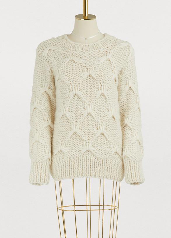 Officine GénéraleDiamond wool sweater