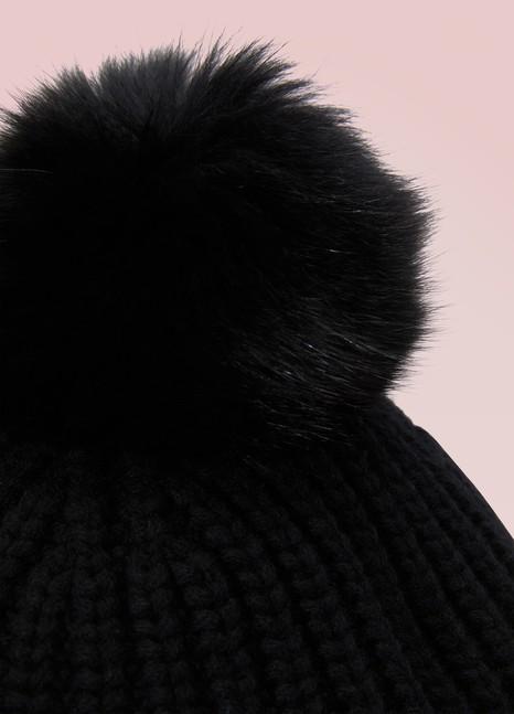 MonclerBonnet en laine à pompom en fourrure