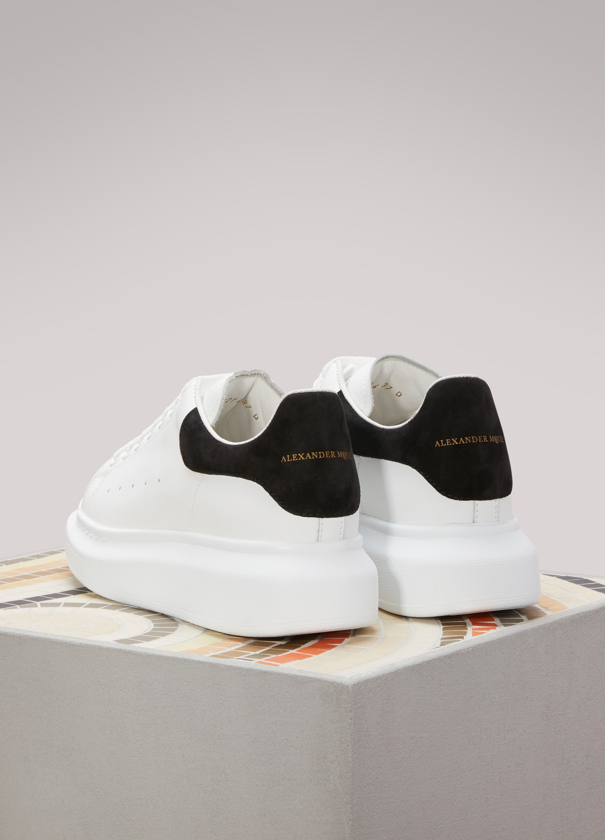 Suede Detail Leather Sneakers Alexander Mcqueen 24 S 232 Vres