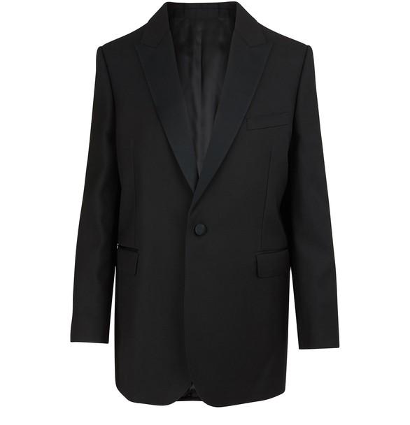 CELINELong rectangle grain de poudre jacket