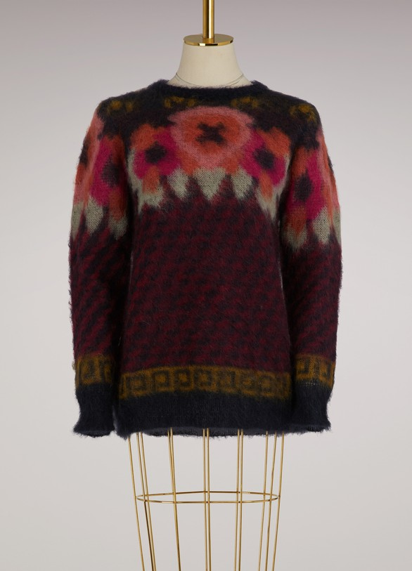 Roberto CollinaMohair Sweater with flowers