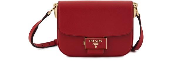 PRADABuckle crossbody bag