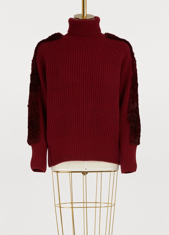 Maison Père Turtleneck fur sweater