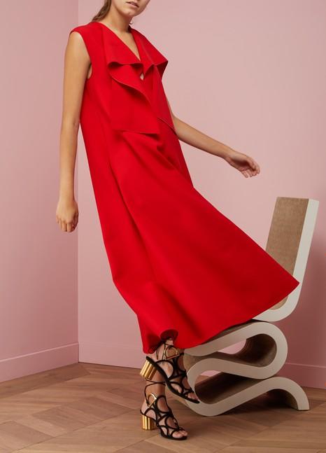 Maison Rabih KayrouzLavallière Collar Woolen Dress