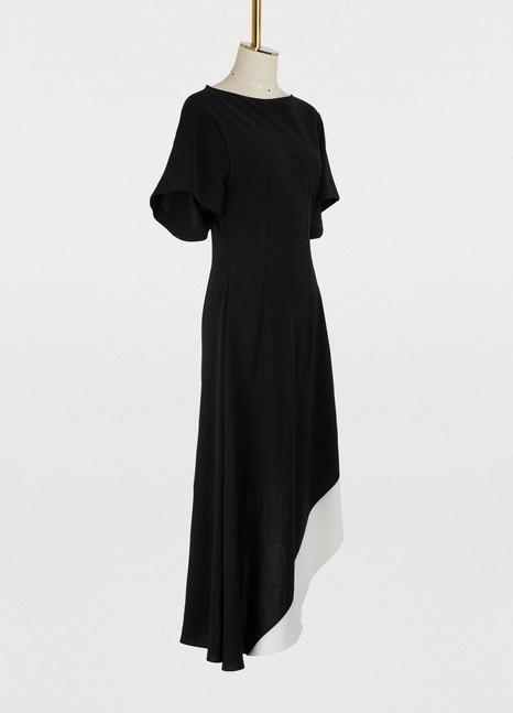 LoeweAsymmetrical short sleeved dress