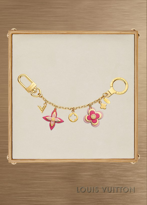 Louis Vuitton Blooming Flowers Chain Bag Charm and Key Holder