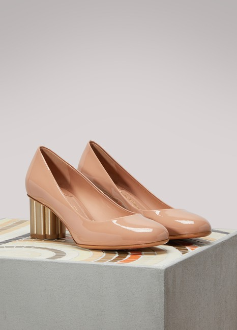 Salvatore Ferragamo Lucca Patent Leather Pumps