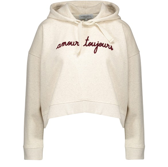 MAISON LABICHEAmour Toujours cropped hooded sweatshirt