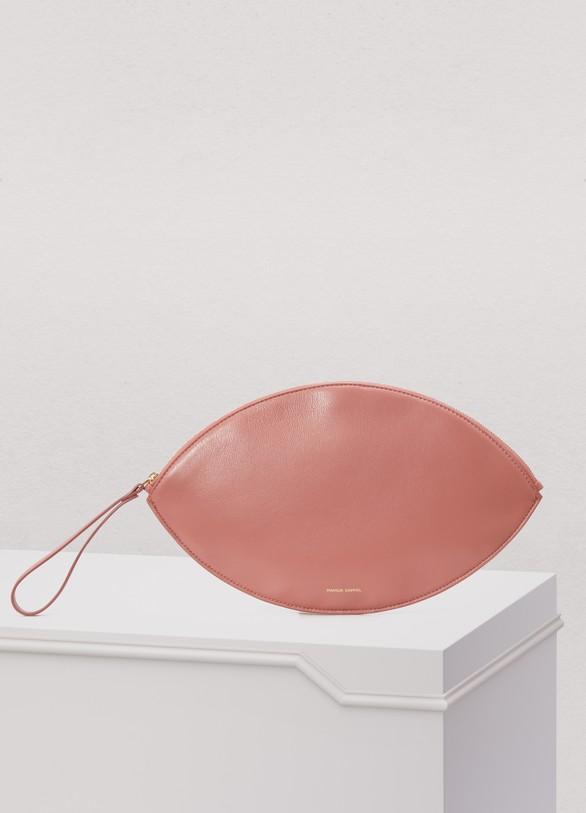Pochette en cuir Oval mVeWq51q