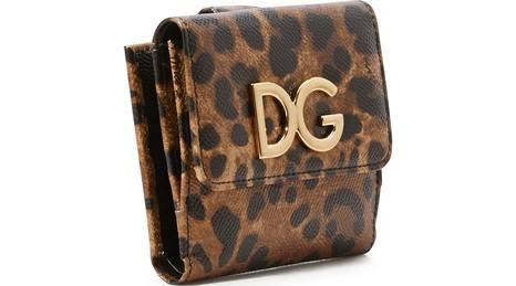 DOLCE & GABBANAPetit portefeuille léopard