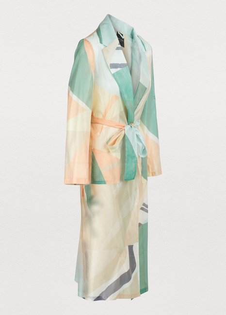 ROBERTO COLLINA Printed trench coat