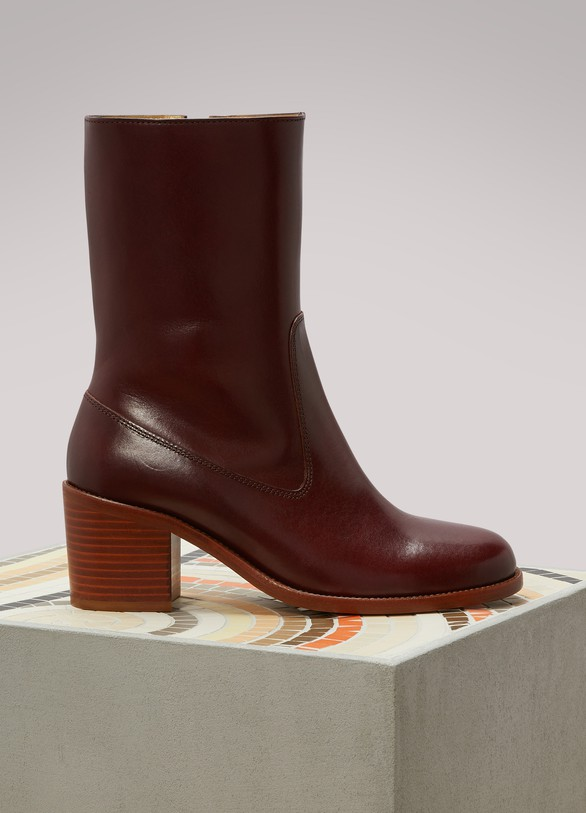 A.P.C. Leather Eva boots