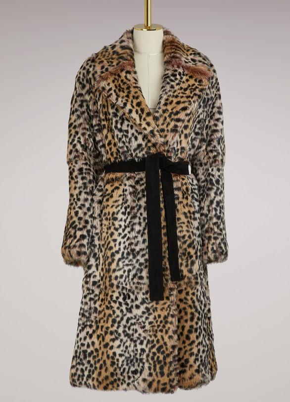 Yves Salomon - MétéoRabbit leopard coat