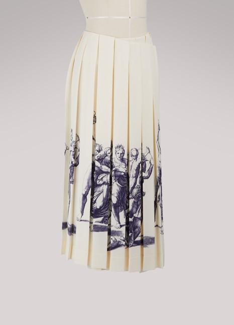 CélinePleated wrap skirt