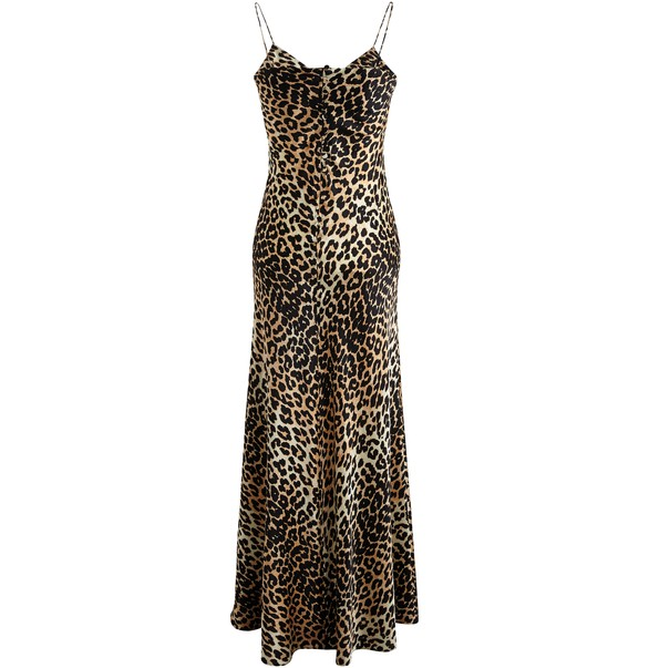 GANNILeopard-print slip dress