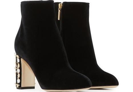 DOLCE & GABBANAVelvet ankle boots